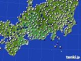 2020年06月07日の東海地方のアメダス(風向・風速)