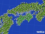 2020年06月07日の四国地方のアメダス(風向・風速)