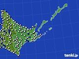 2020年06月07日の道東のアメダス(風向・風速)