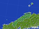 2020年06月07日の島根県のアメダス(風向・風速)