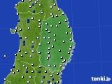 2020年06月07日の岩手県のアメダス(風向・風速)
