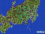 関東・甲信地方のアメダス実況(日照時間)(2020年06月08日)