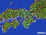 近畿地方のアメダス実況(日照時間)(2020年06月08日)