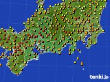 2020年06月08日の東海地方のアメダス(気温)