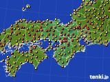 2020年06月08日の近畿地方のアメダス(気温)