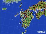 2020年06月08日の九州地方のアメダス(気温)