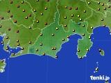 2020年06月08日の静岡県のアメダス(気温)