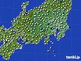 関東・甲信地方のアメダス実況(風向・風速)(2020年06月08日)