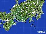 2020年06月08日の東海地方のアメダス(風向・風速)