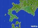 2020年06月08日の道南のアメダス(風向・風速)