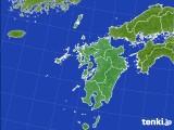 2020年06月09日の九州地方のアメダス(積雪深)