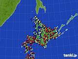 北海道地方のアメダス実況(日照時間)(2020年06月09日)