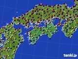 四国地方のアメダス実況(日照時間)(2020年06月09日)