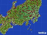 2020年06月09日の関東・甲信地方のアメダス(気温)