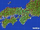 2020年06月09日の近畿地方のアメダス(気温)