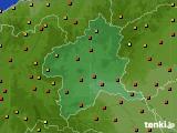 2020年06月09日の群馬県のアメダス(気温)