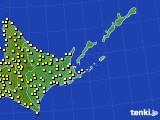 2020年06月09日の道東のアメダス(気温)
