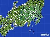 2020年06月09日の関東・甲信地方のアメダス(風向・風速)
