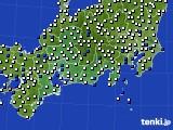 2020年06月09日の東海地方のアメダス(風向・風速)