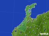 2020年06月09日の石川県のアメダス(風向・風速)