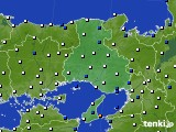 2020年06月09日の兵庫県のアメダス(風向・風速)