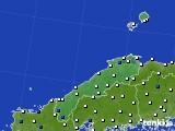 2020年06月09日の島根県のアメダス(風向・風速)