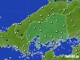 広島県のアメダス実況(風向・風速)(2020年06月09日)