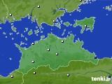 2020年06月09日の香川県のアメダス(風向・風速)