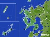 2020年06月09日の長崎県のアメダス(風向・風速)