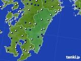 2020年06月09日の宮崎県のアメダス(風向・風速)
