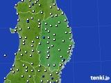 2020年06月09日の岩手県のアメダス(風向・風速)