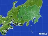 関東・甲信地方のアメダス実況(降水量)(2020年06月10日)
