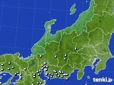 北陸地方のアメダス実況(降水量)(2020年06月10日)