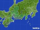 2020年06月10日の東海地方のアメダス(降水量)