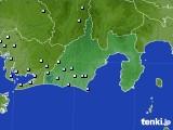 静岡県のアメダス実況(降水量)(2020年06月10日)