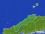 2020年06月10日の島根県のアメダス(降水量)