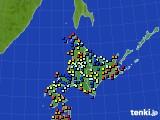 北海道地方のアメダス実況(日照時間)(2020年06月10日)