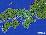 2020年06月10日の近畿地方のアメダス(日照時間)