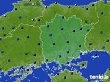 岡山県のアメダス実況(日照時間)(2020年06月10日)