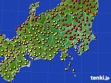 2020年06月10日の関東・甲信地方のアメダス(気温)