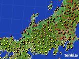北陸地方のアメダス実況(気温)(2020年06月10日)