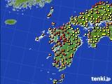 2020年06月10日の九州地方のアメダス(気温)