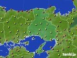 2020年06月10日の兵庫県のアメダス(気温)