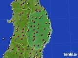 岩手県のアメダス実況(気温)(2020年06月10日)