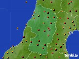 山形県のアメダス実況(気温)(2020年06月10日)