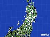 東北地方のアメダス実況(風向・風速)(2020年06月10日)