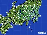 2020年06月10日の関東・甲信地方のアメダス(風向・風速)