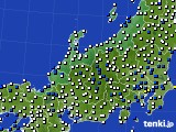 北陸地方のアメダス実況(風向・風速)(2020年06月10日)