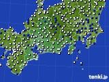 2020年06月10日の東海地方のアメダス(風向・風速)