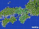 2020年06月10日の近畿地方のアメダス(風向・風速)